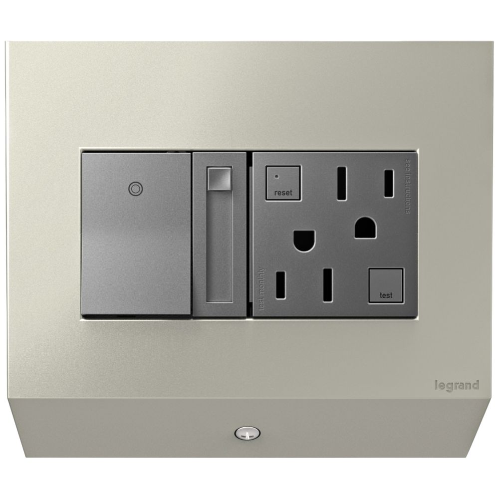 Adorne Control Box With Paddle Dimmer And Outlet Style 7c800