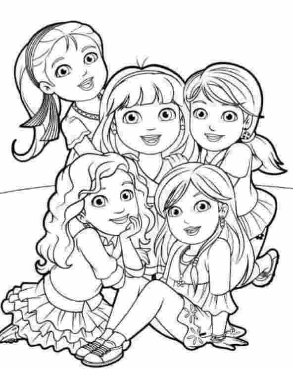 coloring pages free dora and friends coloring pages  new