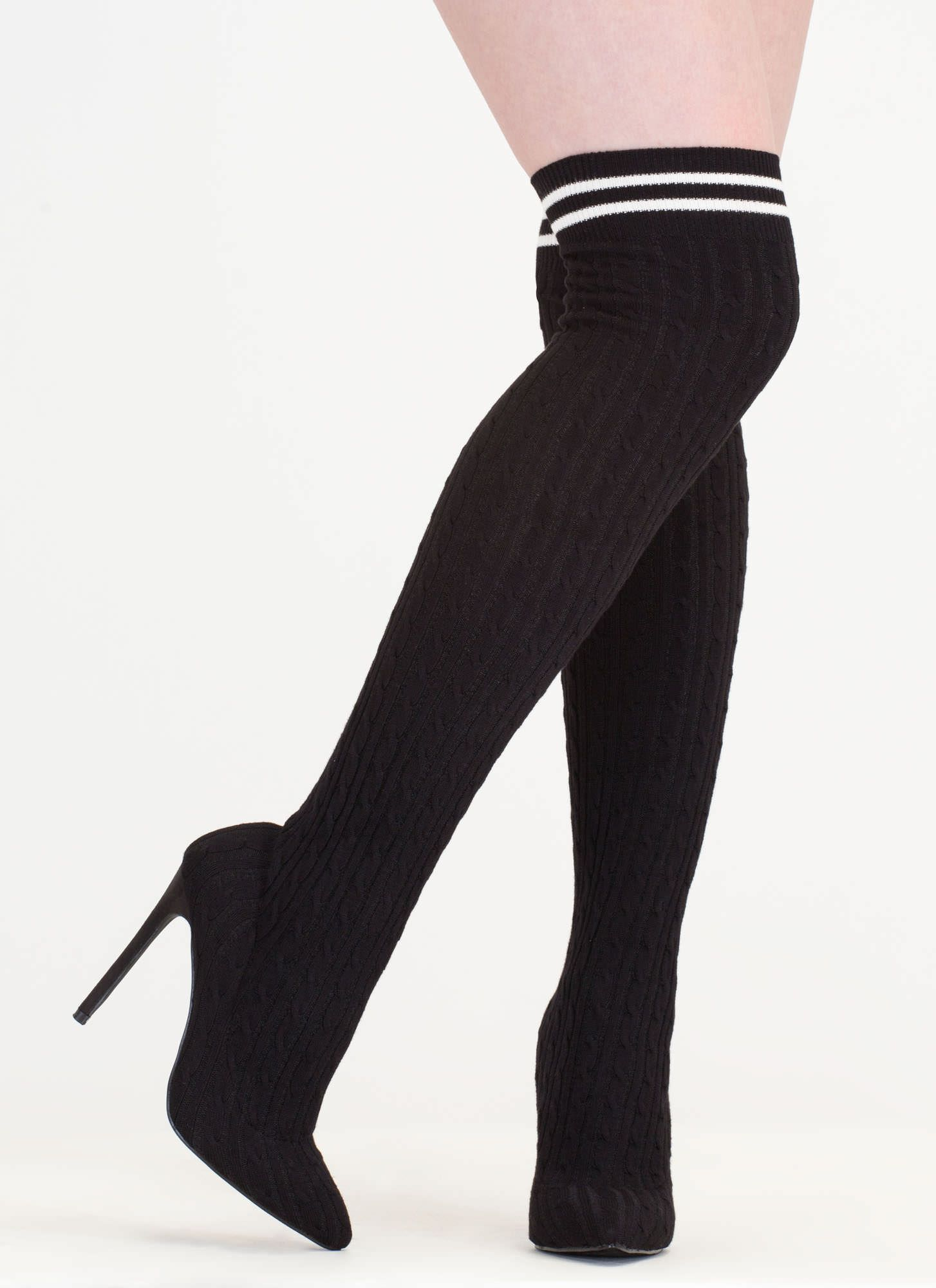 Thigh high sock boots, Thigh highs