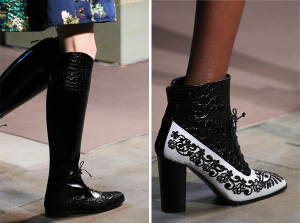 Ankle boots / boots with lacing by Erdem for Fall and Winter 2015-216