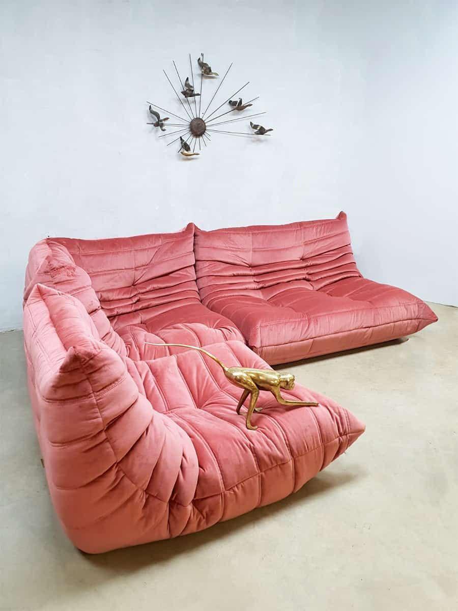 Vintage Design Lounge Bank Velours Pink Velvet Togo Ligne Roset M