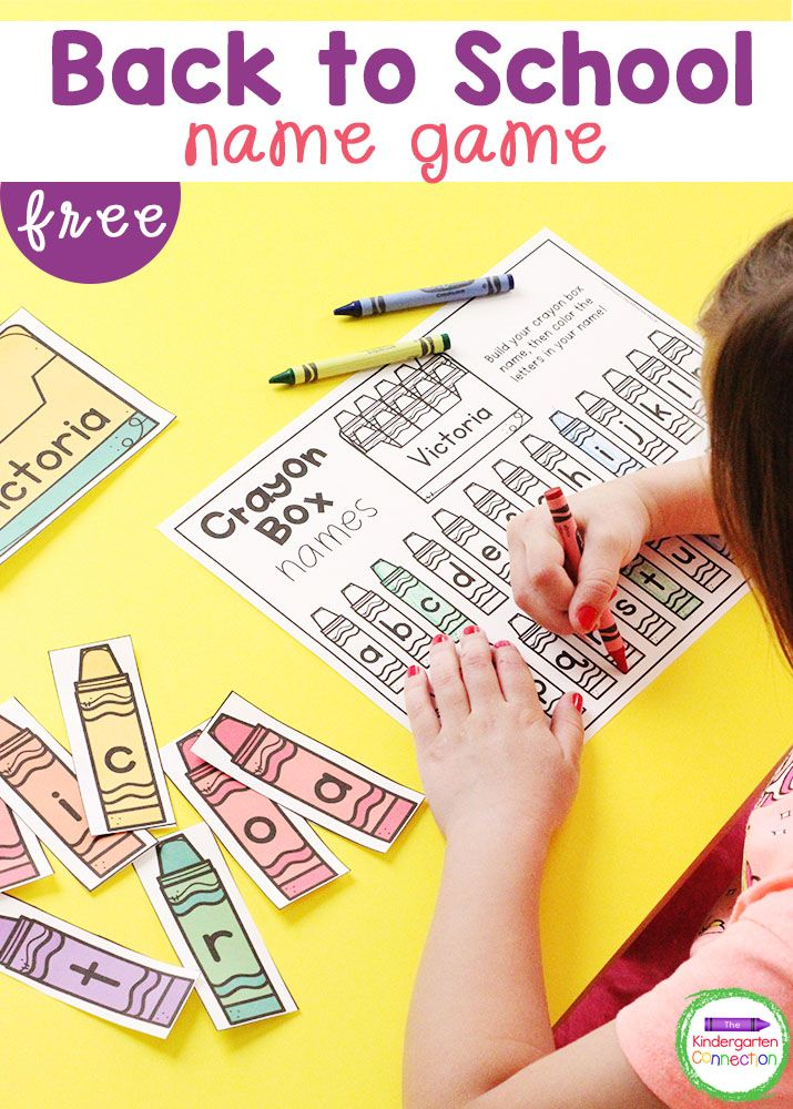 This free Back to School Name Game for Pre-K and Kindergarten is a fun, hands-on way for students to practice spelling their names!