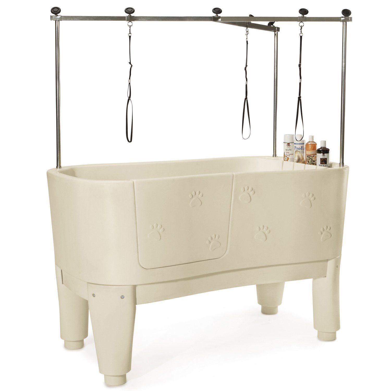 Amazon Com Master Equipment Polypro Grooming Tub Ivory Pet