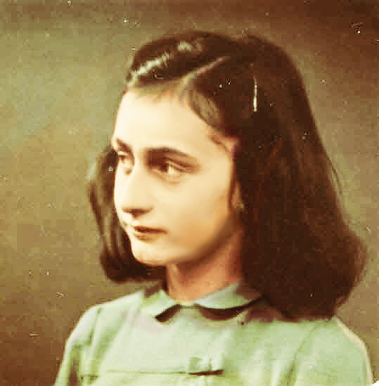 The courageous and beautiful-minded Anne Frank