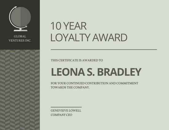 Pin by lucy jones on work design ideas pinterest certificate award certificate grey modern award certificate templates by canva yelopaper