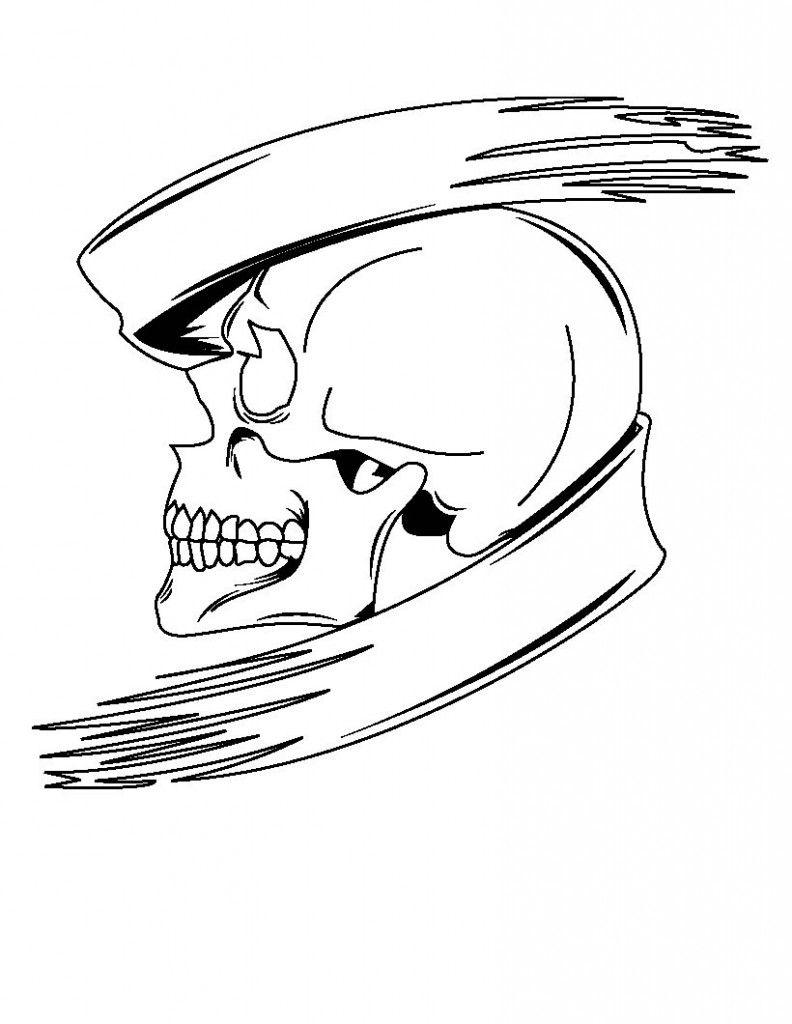 free printable skull coloring pages for kids mit bildern