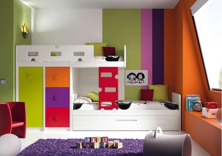 dormitorio juvenil litera block formas ambiente f