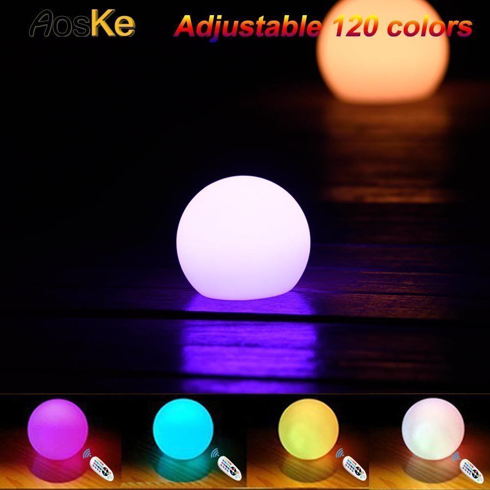 Floating LED Pool Glow Light Orb Ball Night Light Color Changing 6 Inch   AosKe 57ed341009317