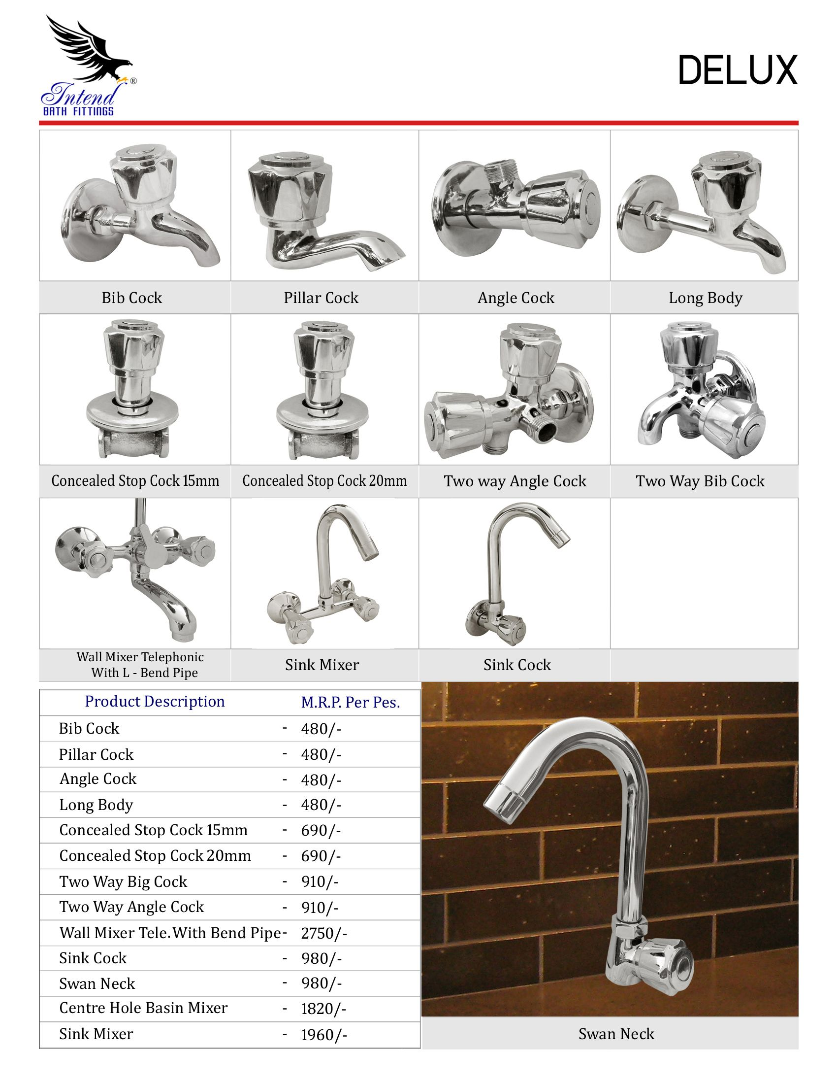 Delux Products Range From Intend Bath Fittings Bath Accessories Fittings Bath