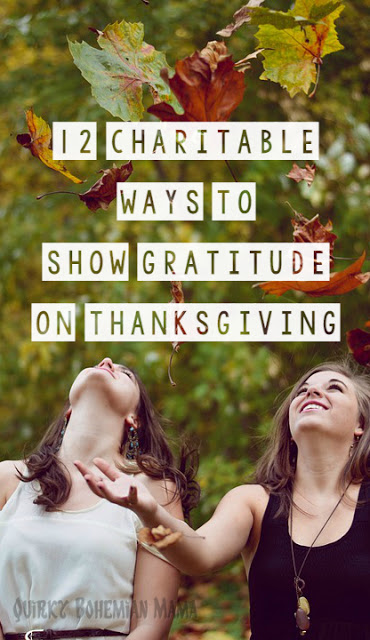 How to give back at Thanksgiving. How to give thanks on thanksgiving. Thanksgiving volunteer ideas. 12 Charitable Ways to Show Gratitude on Thanksgiving.