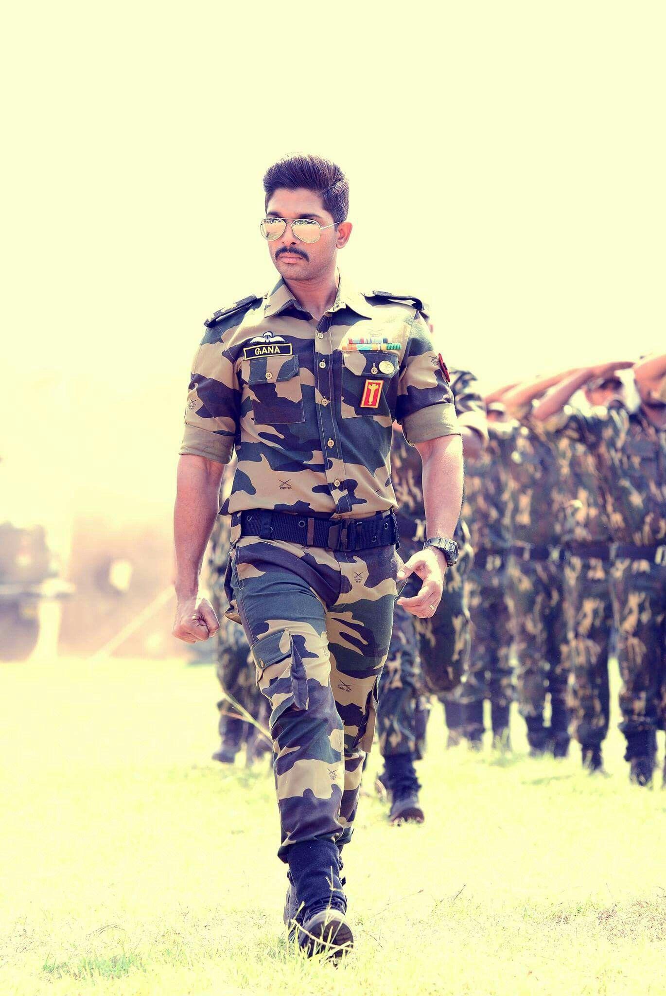Stylish Army Man Allu Arjun In 2019 Pinterest