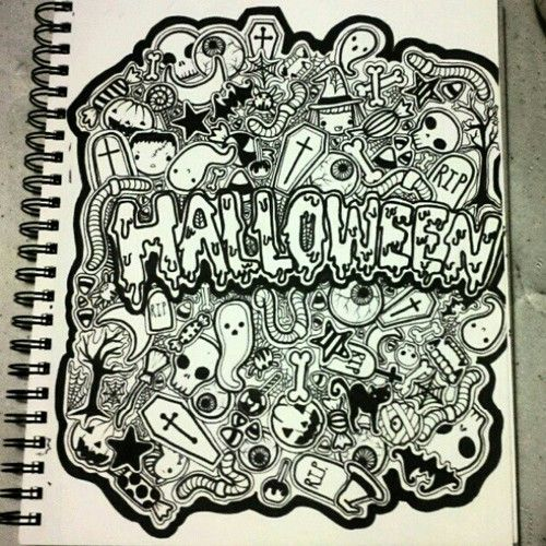 Full Page Doodle- Halloween Themed by gutterface.deviantart.com on ...