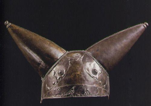 'La Tene' style helmet from the river Thames at Waterloo Bridge.c.150-50 BCE.
