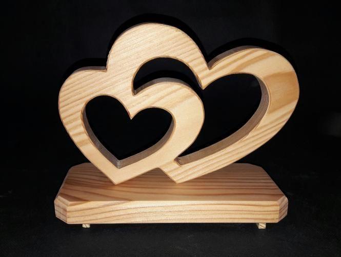 doppelherz l rche ge lt zur hochzeit verlobung valentinstag h he ca 15cm l nge ca 25 cm. Black Bedroom Furniture Sets. Home Design Ideas