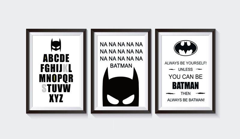 3 Plakaty Do Pokoju Dziecięcego Batman 61sekunden