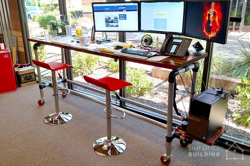 Rolling Standing Desk Diy Standing Desk Desk Stand Up Desk