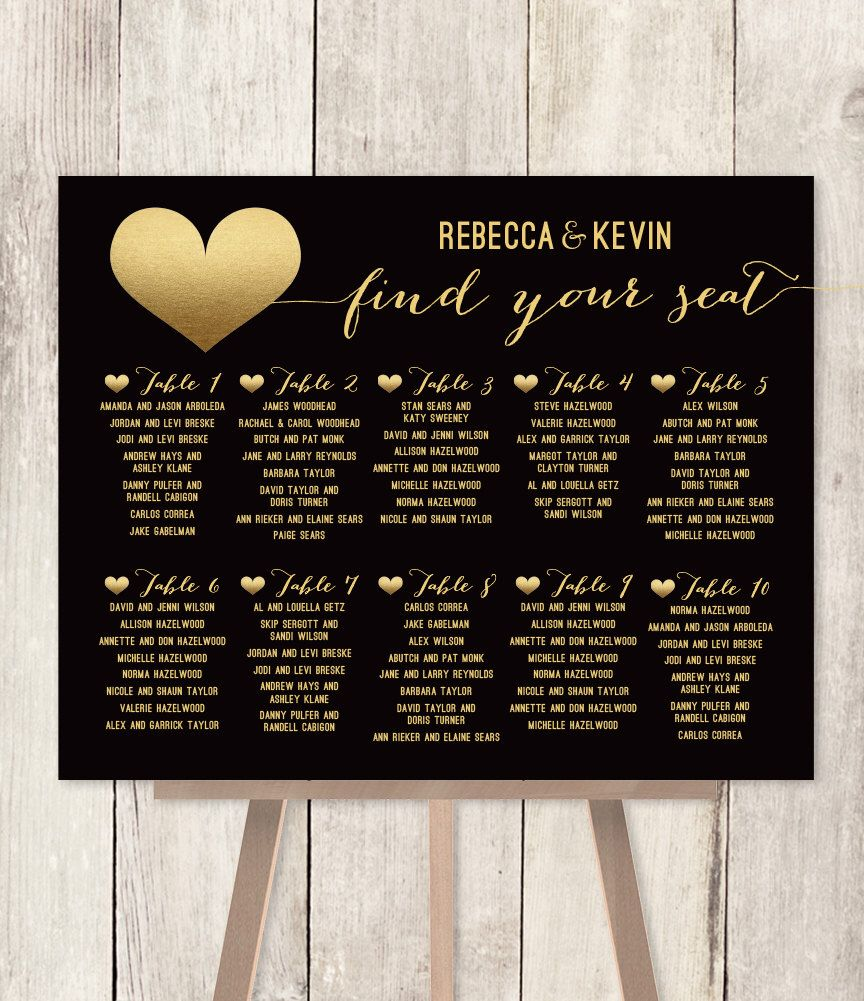 Elegant wedding seating chart diy art deco poster gold and black faux metallic also idea layered table assignments attached to  rh pinterest