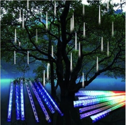 Hanging Outdoor Christmas Lights Youtube: Meteor Shower Falling Star/Rain Drop/Icicle Snow Fall LED