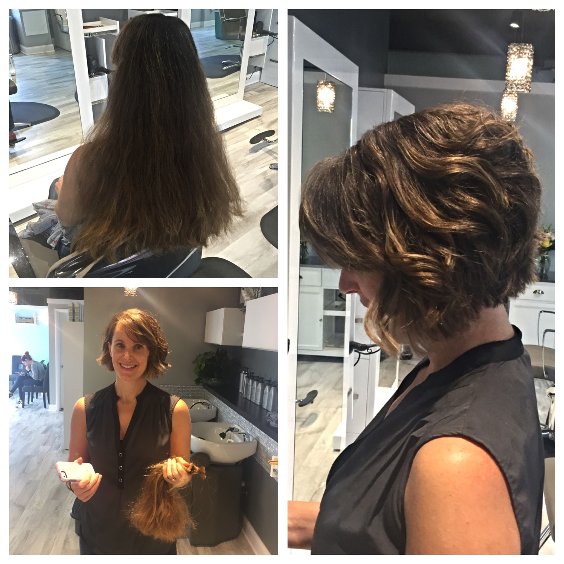 Long hair to a short bob. Hair donation and transformation