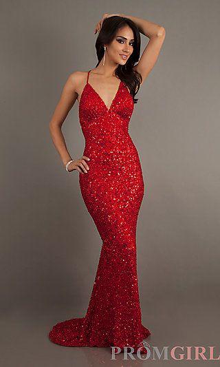V Neck Glitter Dress