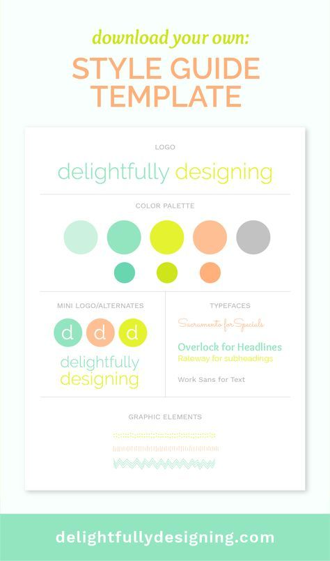 Style Guide Template Download | Branding Style Guide | Business tips ...