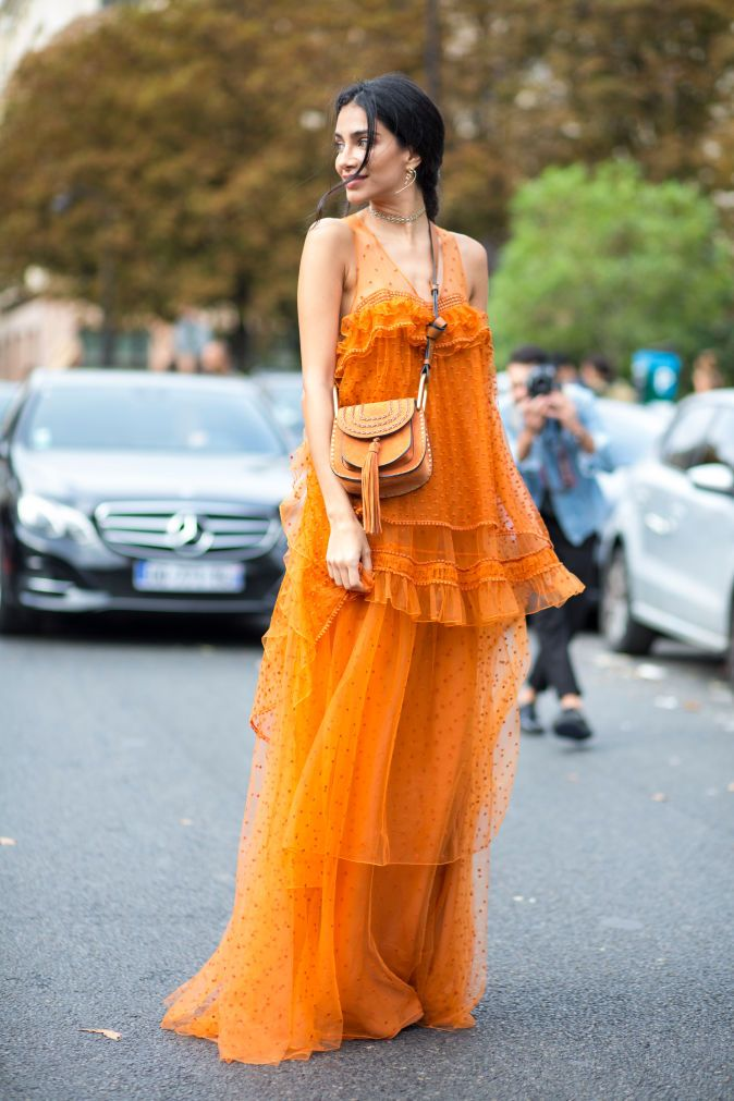 The Best Street Style Looks From Paris Fashion Week | Fashionista. Soft, Feminine, Floaty, Stunning!