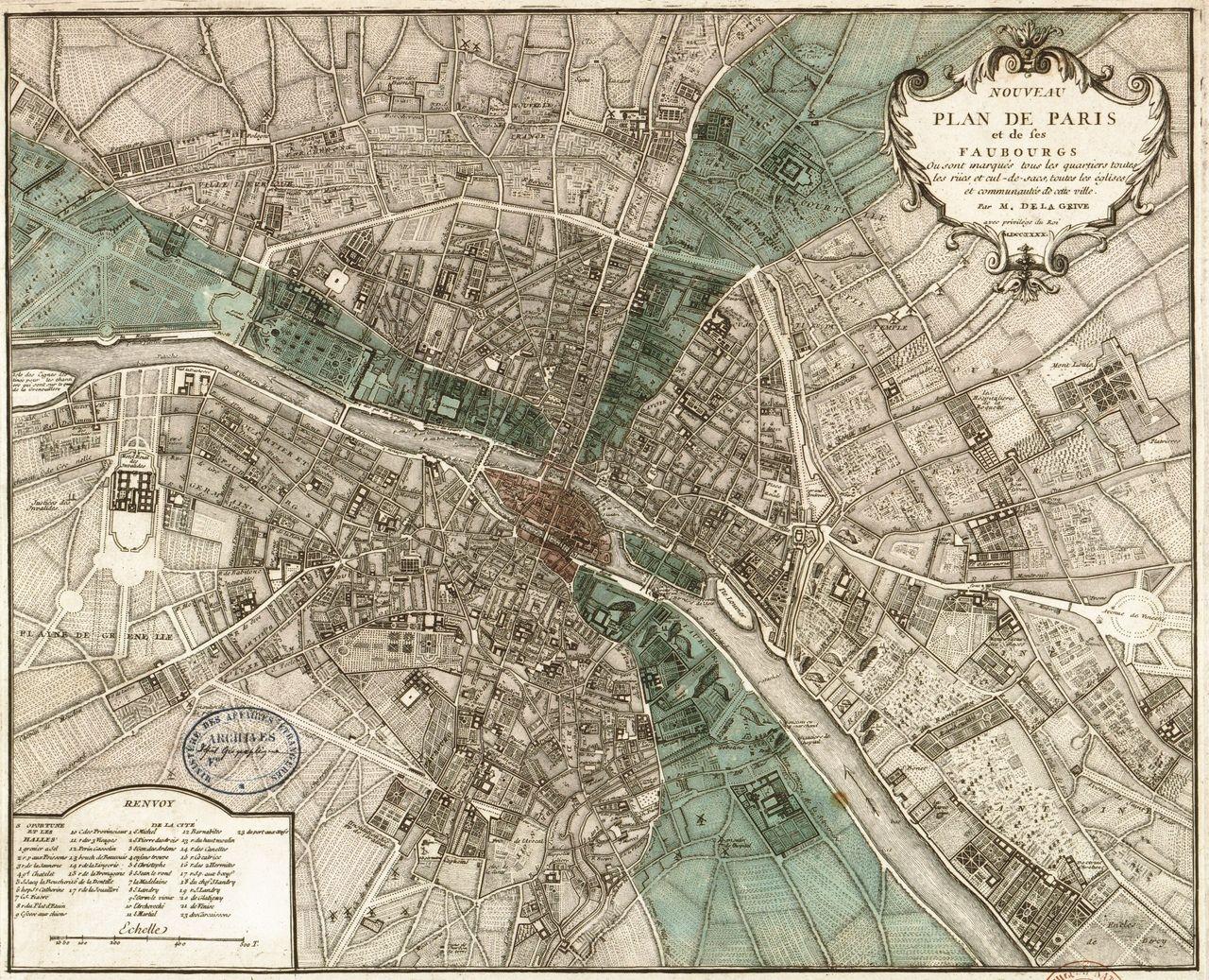 Printable Vintage Paris Map Paris Map Paris Art Print Vintage Paris Map
