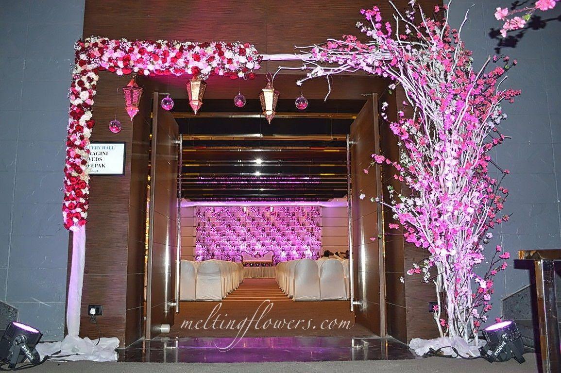 Wedding decorations gate  Wedding Entrance Decoration At Radisson Blu Atria Bengaluru