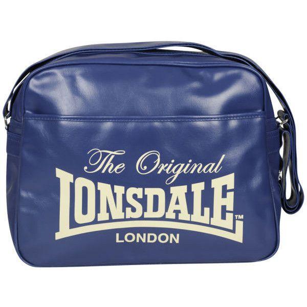 Lonsdale Front Pocket Messenger Bag Navy 27 Liked On Polyvore
