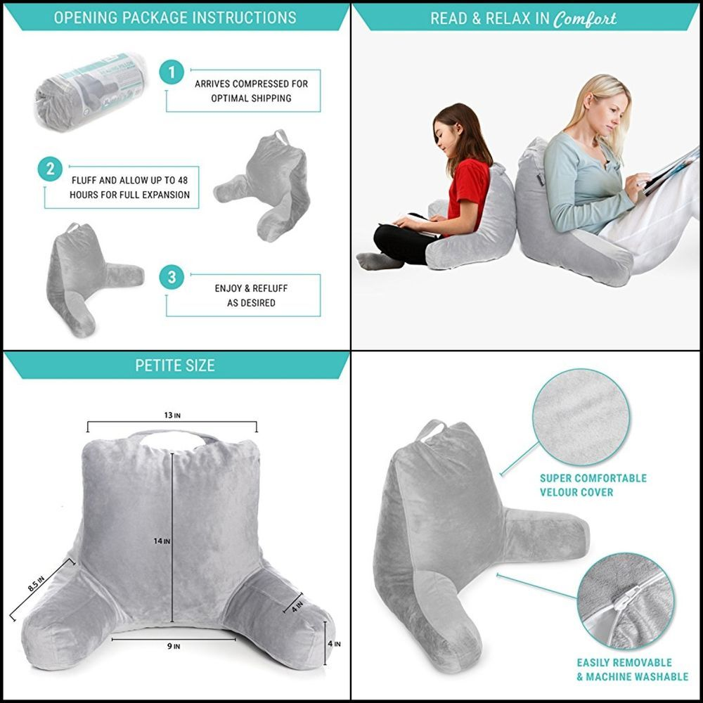 Curling Up On Sofa With Bed Rest Pillow Back Arm Support Sit Up Pillow 14 Inch Milliard Situppillow Bed Rest Pillow Pillows Bed Rest