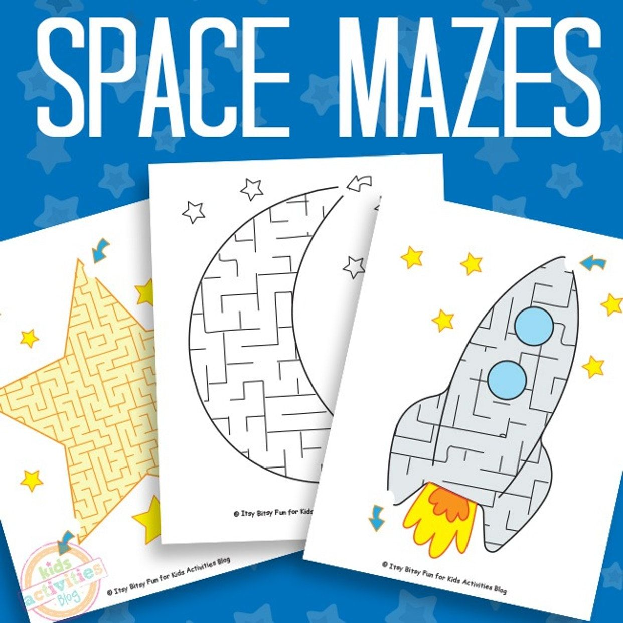 Space Mazes Free Kids Printable With Images