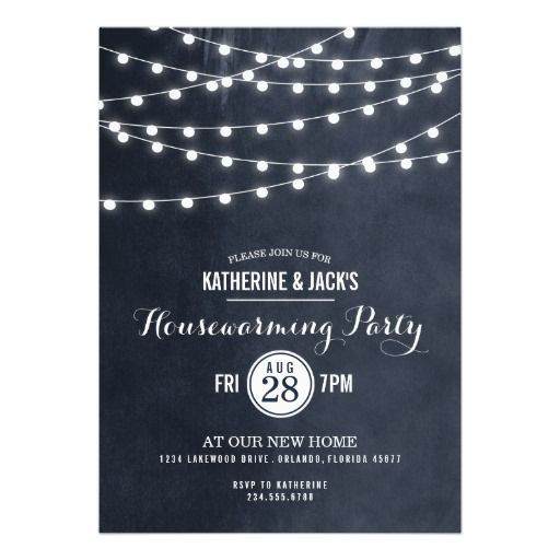 Summer String Lights Housewarming Party Invitation Housewarming