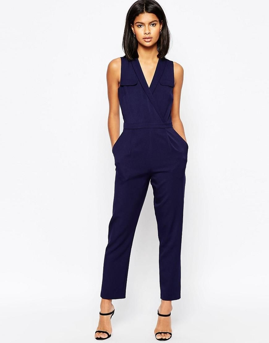 ASOS | ASOS Wrap Jumpsuit with Pocket Detail at ASOS