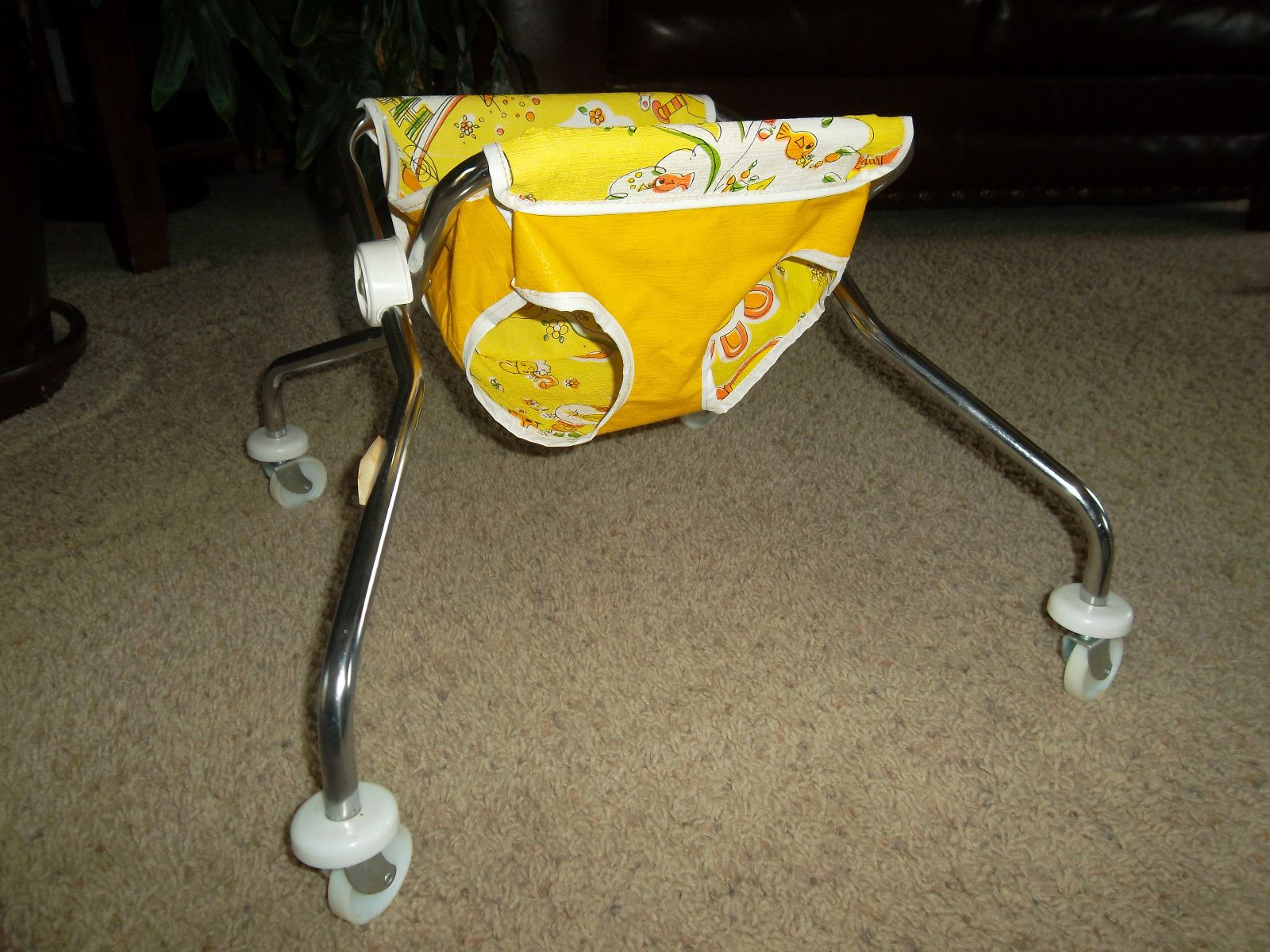 Nos Antique Vintage Retro Old Child Baby Seat Chair Walker
