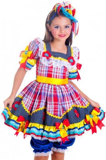 953ef6b759 Graca_a Como Fazer Vestido De Festa Junina, Vestido Caipira Infantil,  Vestido Festa Junina Infantil