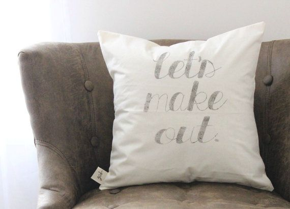 Let's Make Out 16 x 16 Pillow Cover by ParrisChicBoutique on Etsy