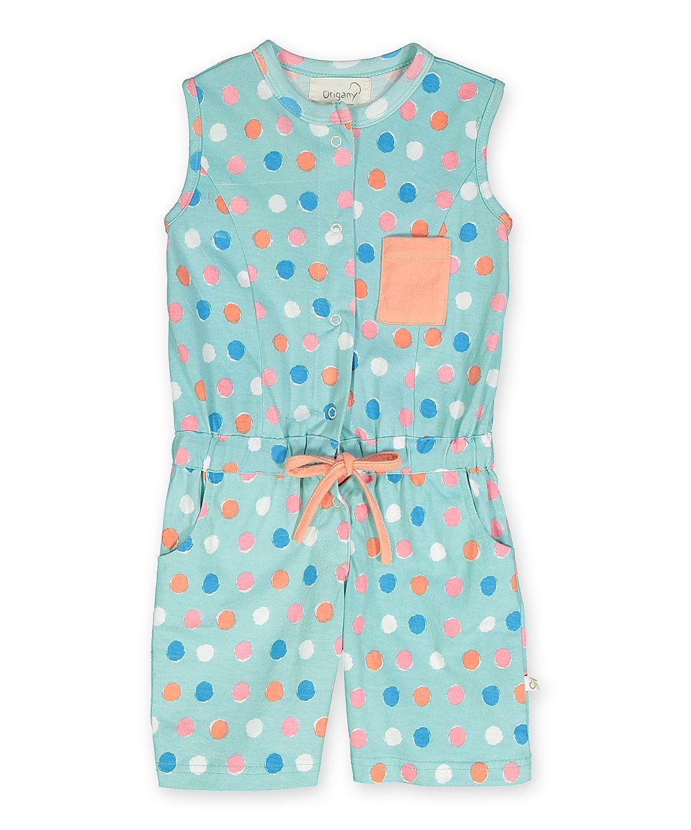694dc36f099 Blue Polka Dot Sleeveless Romper - Toddler   Girls