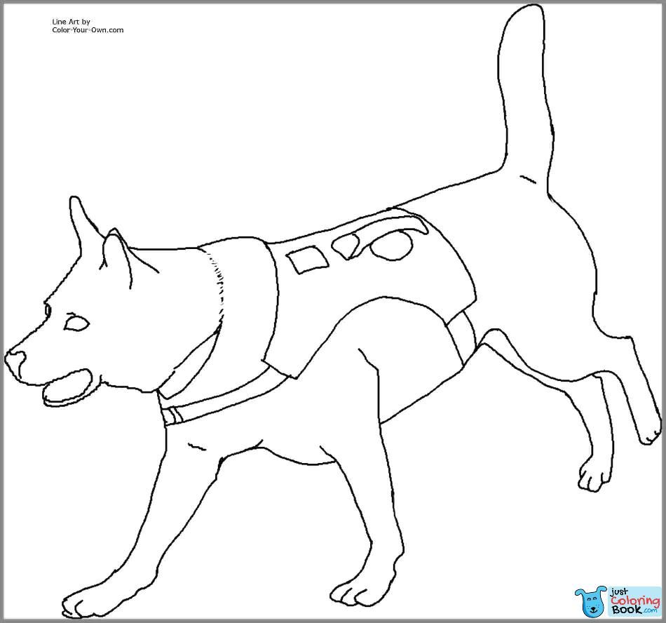 Police Dog Coloring Sheet Terracesheet Co Within Free Download K