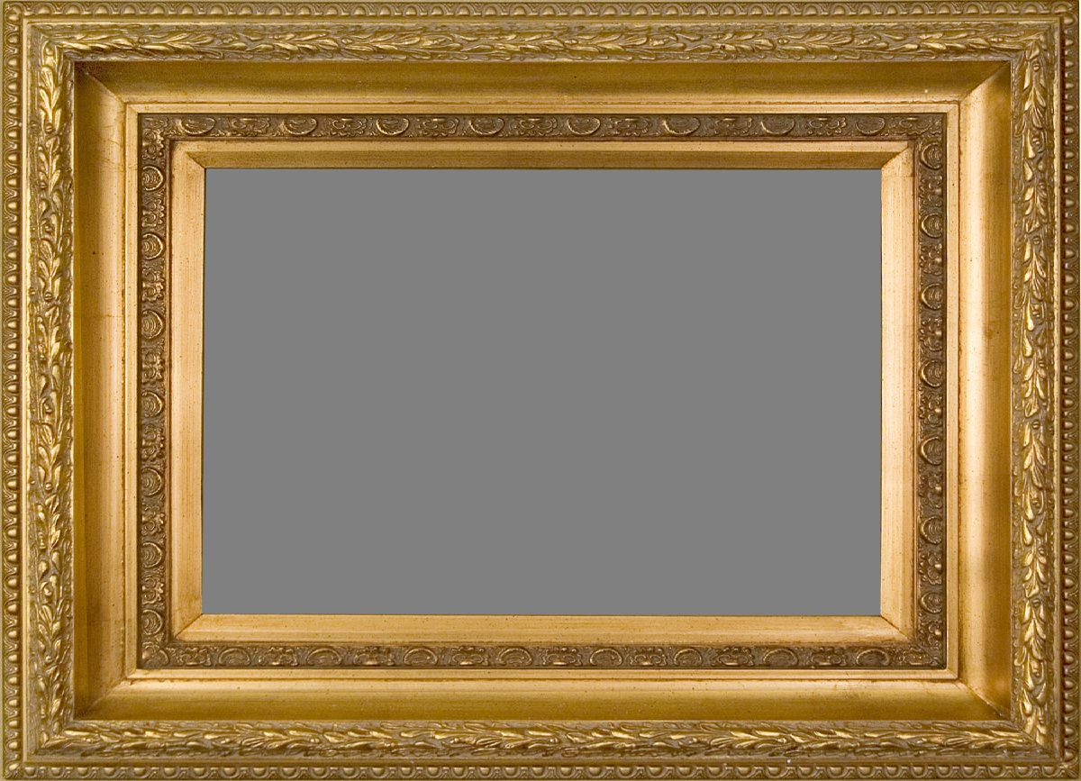 Wide Gold Museum Style Frame | Museum Style Picture Frames ...