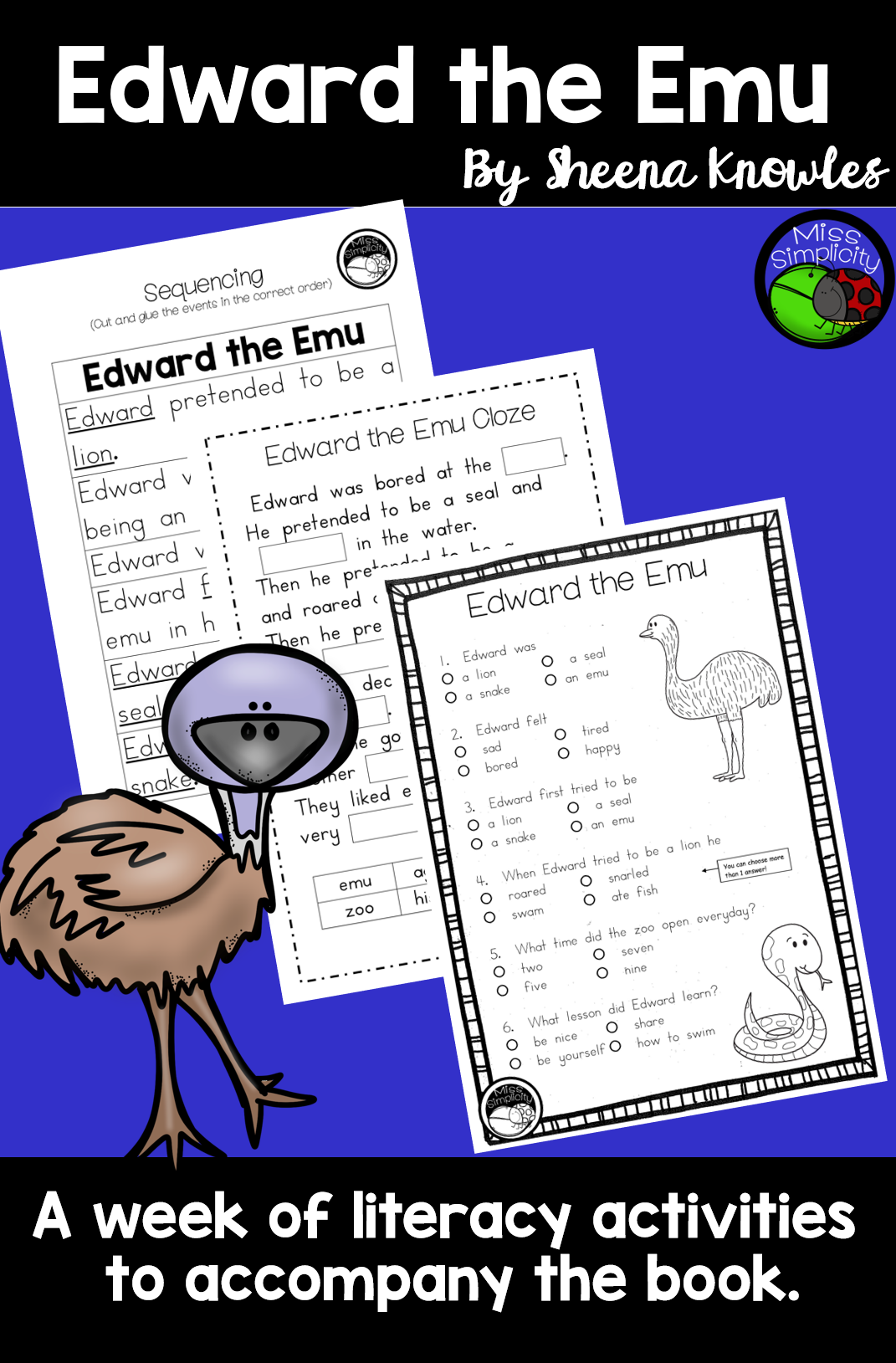 Edward The Emu A Week Of Reading Activities