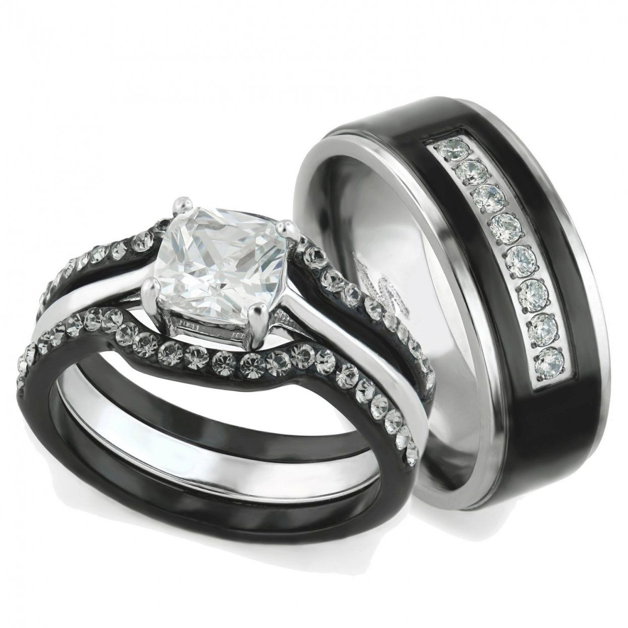 Zales Wedding Sets For Him And Her Mens diamond wedding