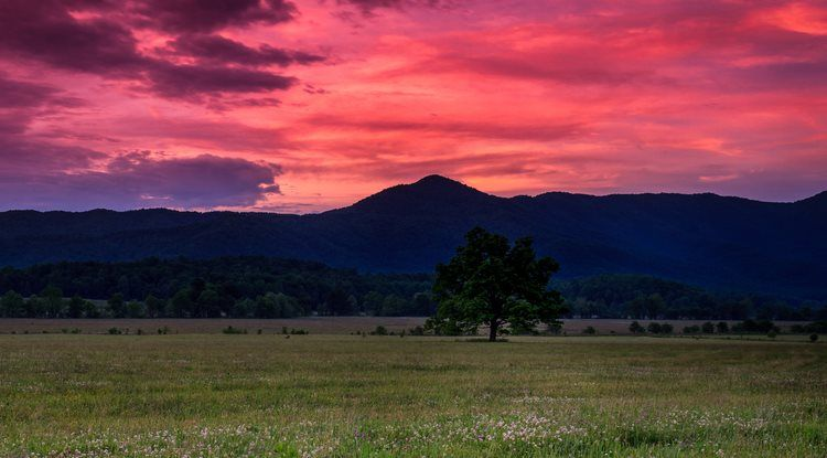 Enjoyable Gorgeous Sunset From Cades Cove Cades Cove My Favorite Download Free Architecture Designs Scobabritishbridgeorg