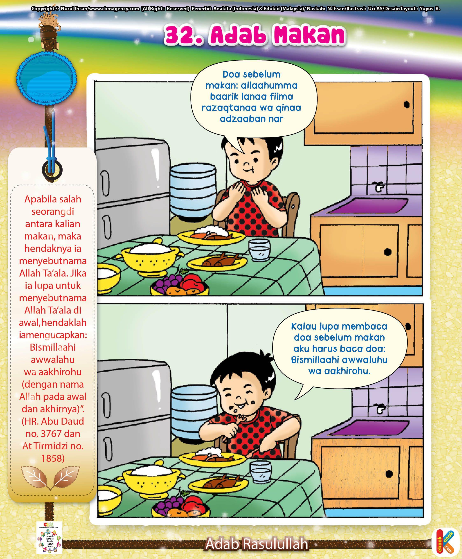 Komik Adab Makan Komik Anak Buku Anak Komik