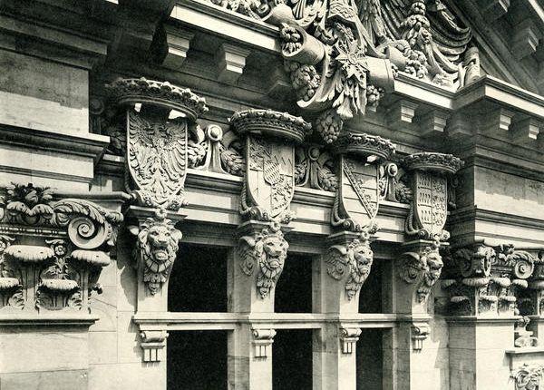Reichstag 1892 Reichstagsgebaude Neue Wache Berlin
