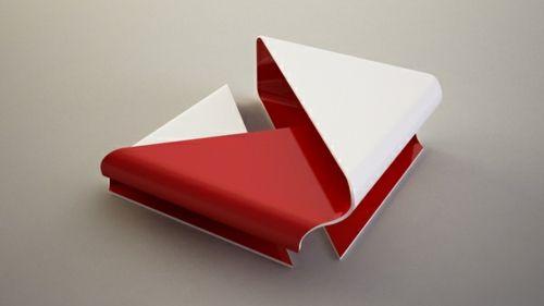 Moderne attraktive Couchtische fürs Wohnzimmer platte rot weiß - moderne bilder fürs wohnzimmer