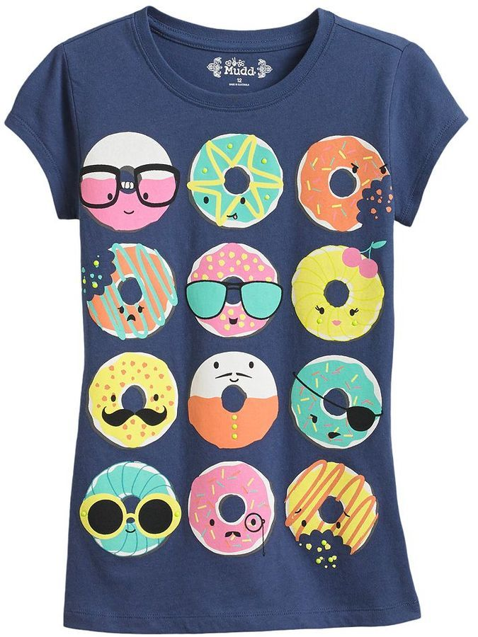Mudd Doughnut Tee Girls Plus Kids Fashion Kids Graphic Tees Kids Outfits