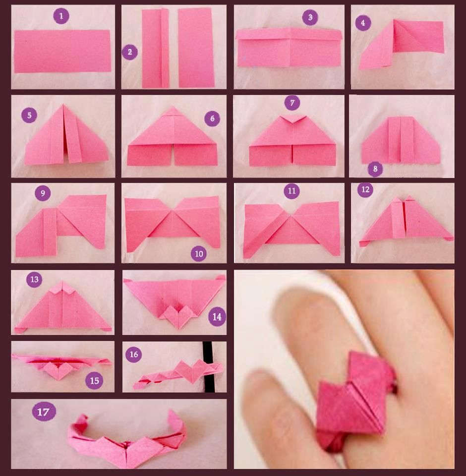 Origami ring paper craft pinterest origami ring origami how to make love shapped ring from paper jeuxipadfo Choice Image