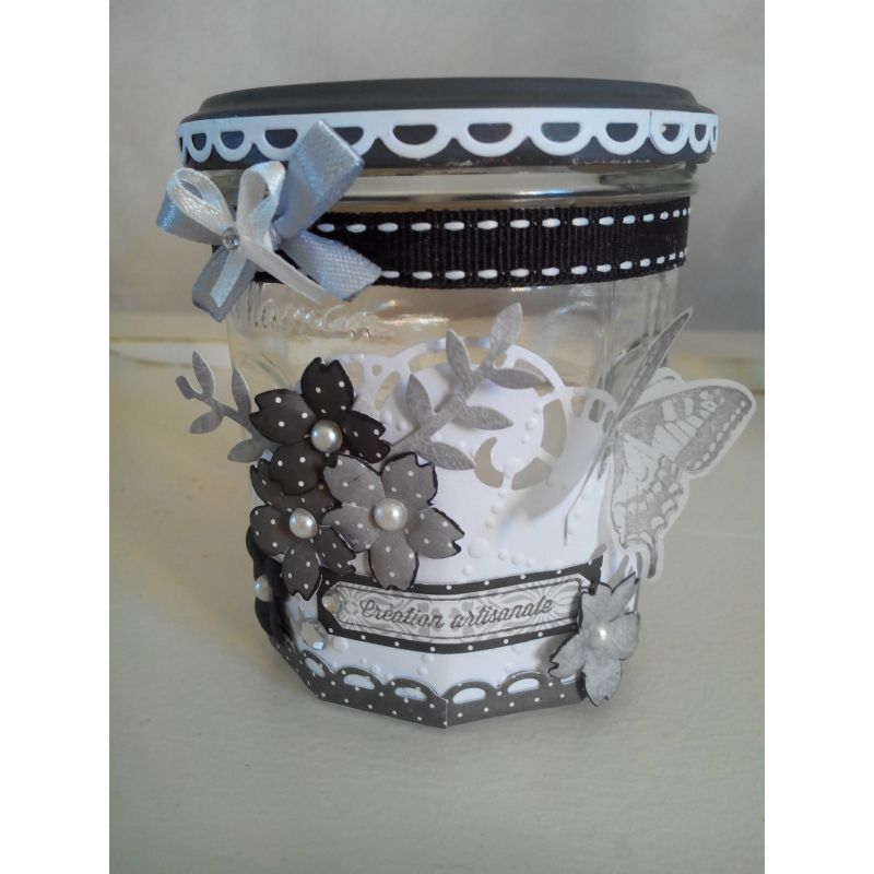 customiser un pot confiture st phanie projets essayer. Black Bedroom Furniture Sets. Home Design Ideas