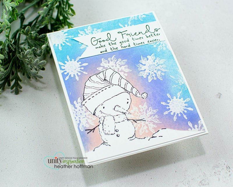 Stamping Snowflakes with White Paint is part of White paints, Snowflakes, White acrylic paint, White, Painting, Stamp - Good morning! Heather here with fun snowy background, and a unique way of adding snowflakes to the background using white acrylic paint! The stamp set I featured is Snow Snow Cute   one of the super cute newer releases from Lisa Glanz! Just like its name   it is SOOO cute! Here is the video sharing …
