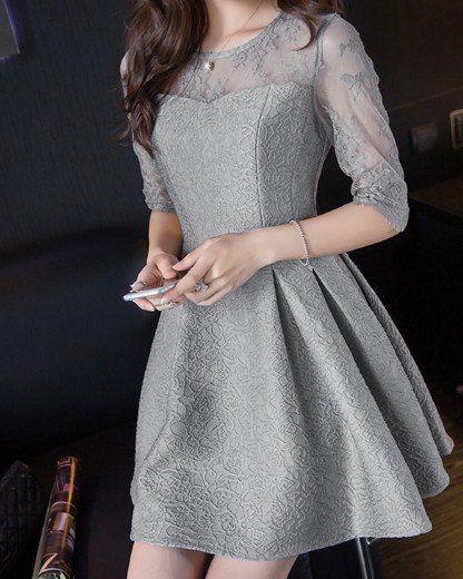 #1197 Solid Color Dress